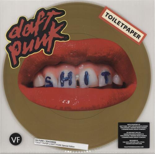 """Daft Punk Da Funk / Teachers 12"""" vinyl picture disc 12inch picture disc record UK DFP2PDA722207"""