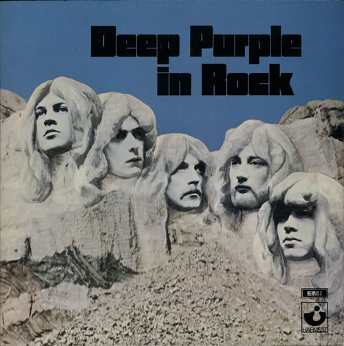 Deep Purple In Rock - 1st vinyl LP album (LP record) UK DEELPIN546062
