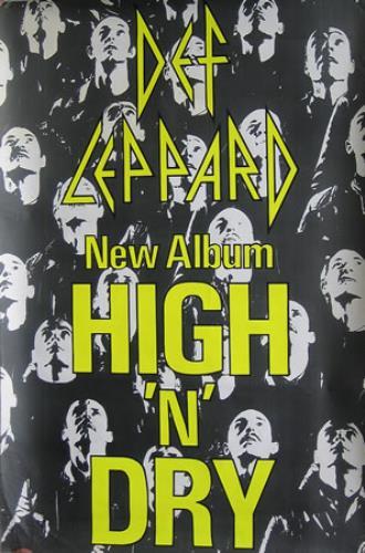 def leppard high n dry uk promo poster