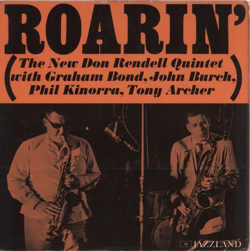 Don Rendell Roarin' - White Label vinyl LP album (LP record) UK D2XLPRO706916
