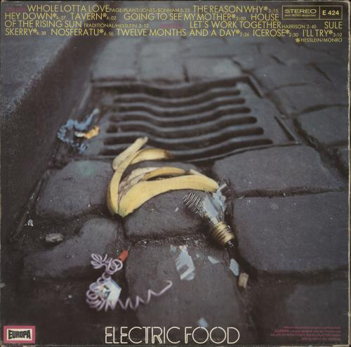 Electric Food Electric Food vinyl LP album (LP record) German 0NPLPEL734582