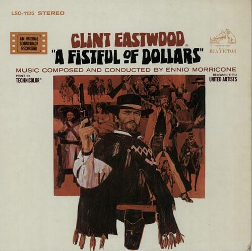 Ennio Morricone A Fistful Of Dollars - khaki label vinyl LP album (LP record) US ENMLPAF603075