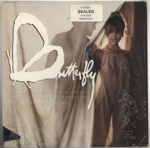 Ennio Morricone Butterfly OST + Shrink vinyl LP album (LP record) US ENMLPBU740778