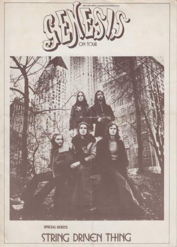 Genesis On Tour tour programme UK GENTRON731432