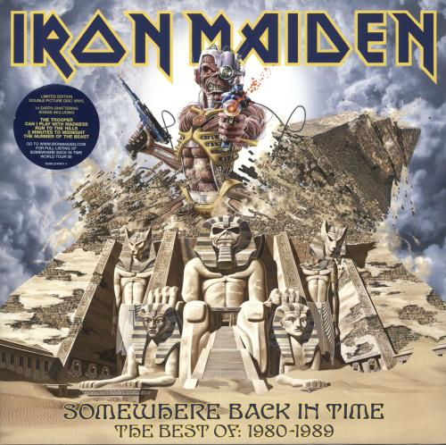 Iron Maiden Somewhere Back In Time picture disc LP (vinyl picture disc album) UK IROPDSO433489