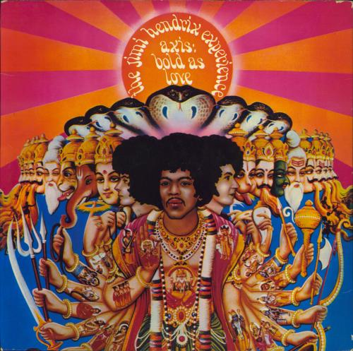 Jimi Hendrix Axis: Bold As Love - 1st + Insert - VG vinyl LP album (LP record) UK HENLPAX334697