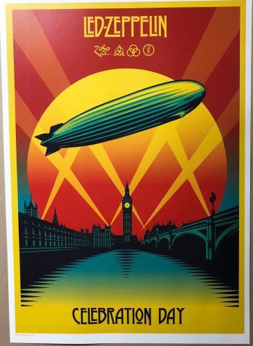 Led Zeppelin Celebration Day Lithograph poster UK ZEPPOCE722922