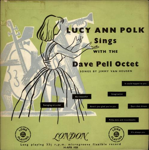 "Lucy Ann Polk Sings With The Dave Pell Octet Songs By Jimmy Van Heusen 10"" vinyl single (10"" record) UK L0D10SI700706"