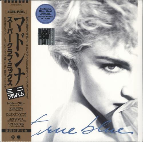 "Madonna True Blue (Super Club Mix) - RSD19 - Blue Vinyl - Sealed 12"" vinyl single (12 inch record / Maxi-single) UK MAD12TR718481"
