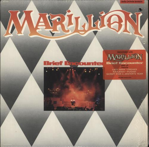 Marillion Brief Encounter + Stickered Shrink vinyl LP album (LP record) US MARLPBR599074