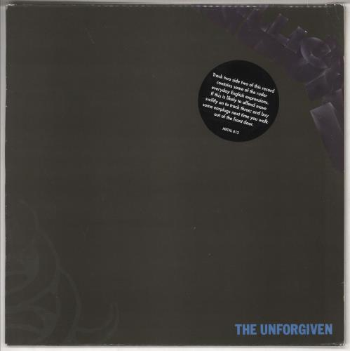 "Metallica The Unforgiven - warning stickered p/s 12"" vinyl single (12 inch record / Maxi-single) UK MET12TH00986"