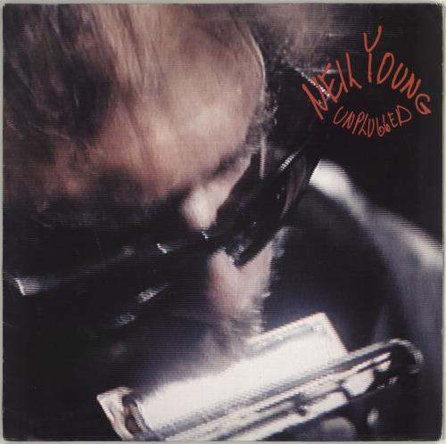 Neil Young Unplugged - VG vinyl LP album (LP record) German YOULPUN712937