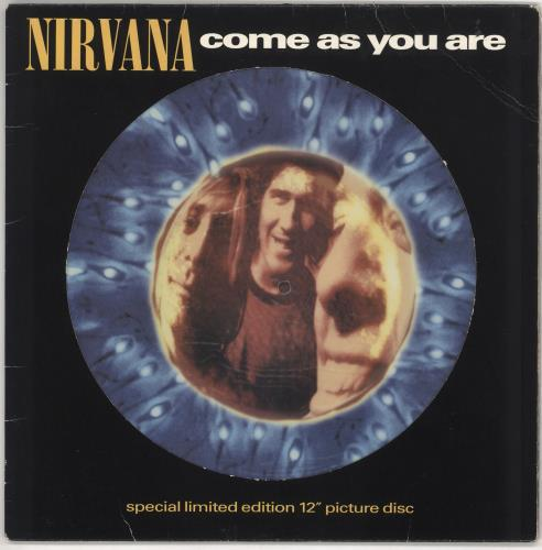 """Nirvana (US) Come As You Are - EX 12"""" vinyl picture disc 12inch picture disc record UK NIR2PCO269973"""