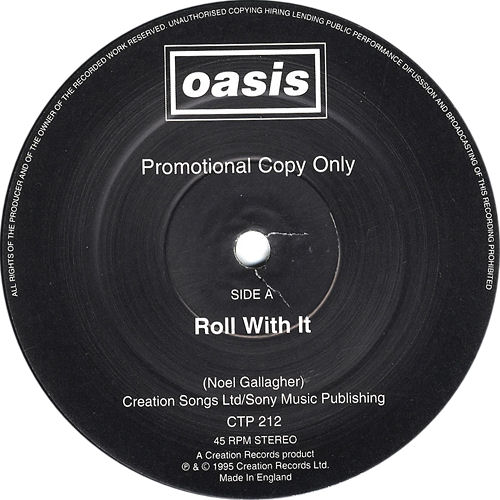 "Oasis Roll With It 12"" vinyl single (12 inch record / Maxi-single) UK OAS12RO60831"