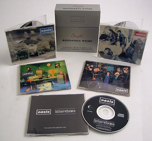 Oasis Singles - Definitely Maybe CD Single Box Set UK OASCXSI75193