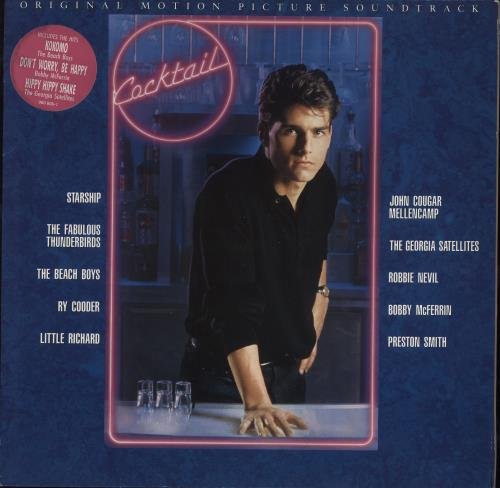Original Soundtrack Cocktail - Stickered Sleeve vinyl LP album (LP record) UK OSTLPCO712395