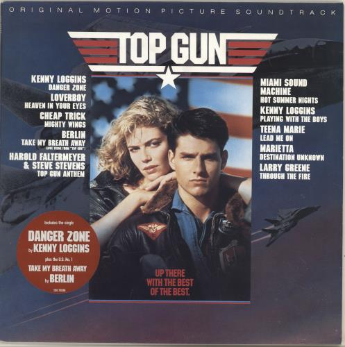 Original Soundtrack Top Gun - Stickered Sleeve vinyl LP album (LP record) UK OSTLPTO67345