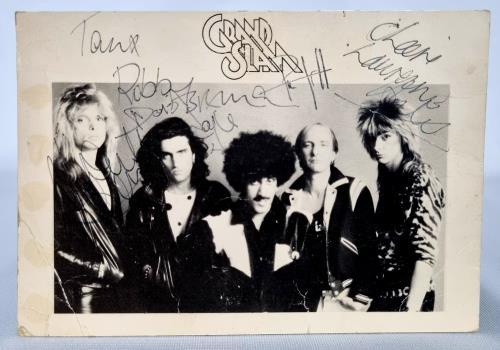 Phil Lynott Grand Slam - Signed Postcard memorabilia UK LYNMMGR723508