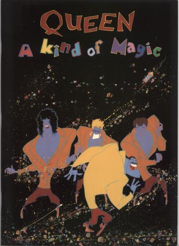 Queen A Kind Of Magic + ticket stub & Harp insert tour programme UK QUETRAK720544
