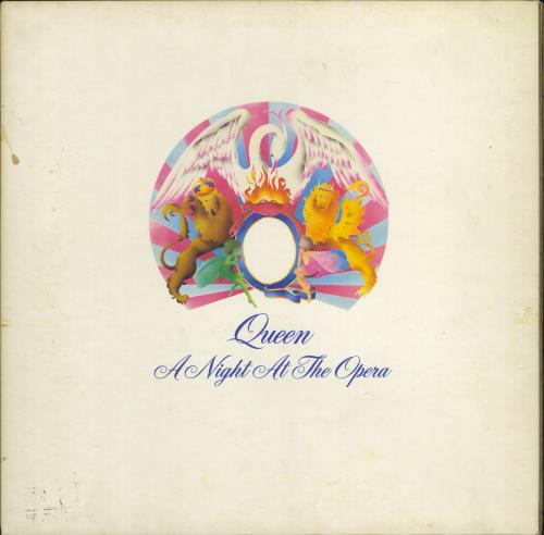 Queen A Night At The Opera - 1st - VG vinyl LP album (LP record) UK QUELPAN629225