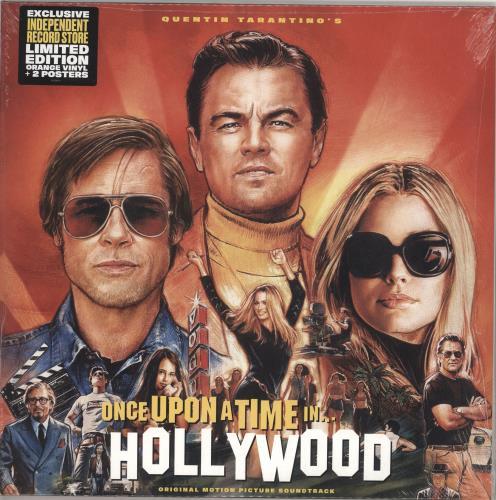 Quentin Tarantino Once Upon A Time In Hollywood - 180gram Orange Vinyl - Sealed 2-LP vinyl record set (Double Album) UK QUN2LON732484
