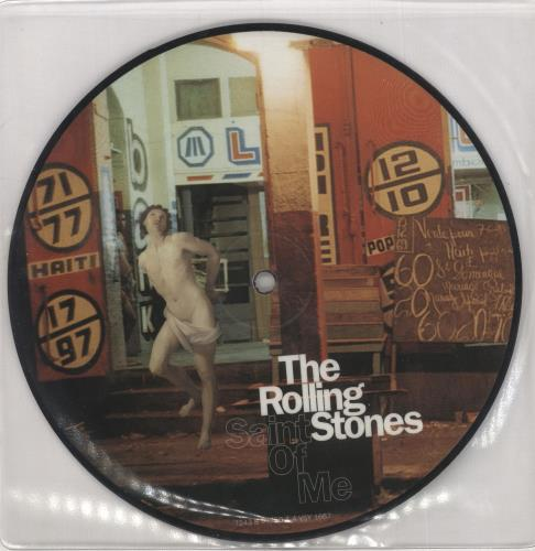 """Rolling Stones Saint Of Me - Number 4 7"""" vinyl picture disc 7 inch picture disc single UK ROL7PSA744172"""