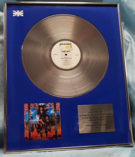 Steve Vai Passion And Warfare award disc UK VAIAWPA697547