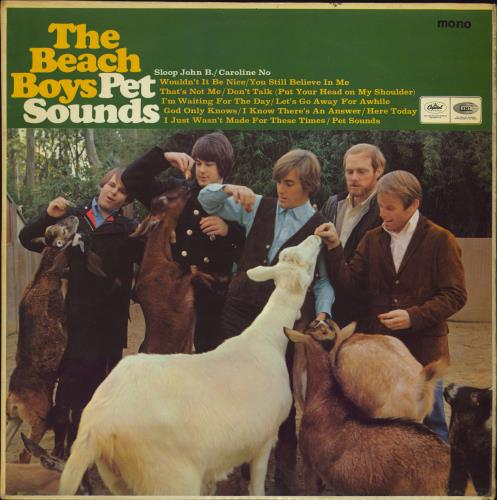 The Beach Boys Pet Sounds - 1st - VG vinyl LP album (LP record) UK BBOLPPE599148