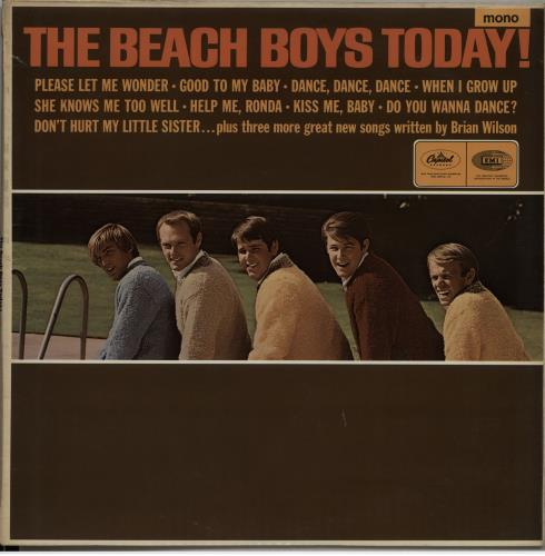 The Beach Boys Today! - Original Mono - EX vinyl LP album (LP record) UK BBOLPTO646535
