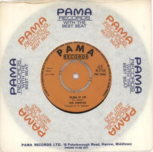 "The Termites (Rocksteady) Push It Up 7"" vinyl single (7 inch record) UK VLF07PU731494"
