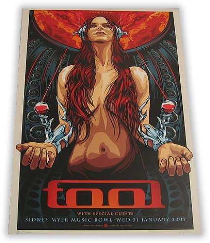 tool sydney concert poster australian poster