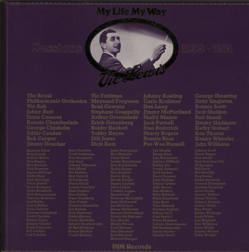 Vic Lewis My Life My Way - Sessions 1938-1974 - Acetate Set Vinyl Box Set UK VB-VXMY649104