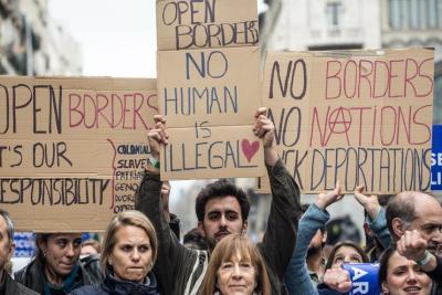 Manifestació Casa Nostra Casa Vostra;Refugiats; Acollir