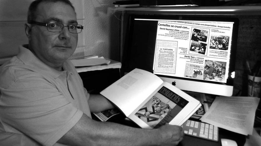 Antón Gasca, comisario de 'todo Centelles' y autor de la investigación de los encuentros de Centelles con Gerda Taro.