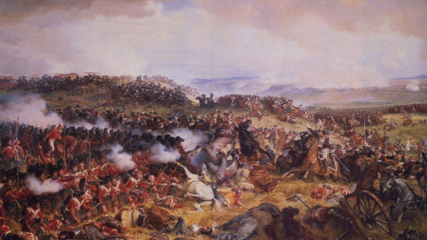 'La carga de los coraceros franceses en Waterloo', H.F. Philippoteaux