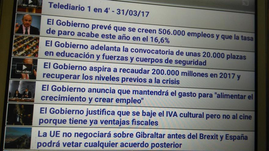 Captura de la web de RTVE difundida por la periodista Rosa María Artal en su cuenta de Twitter.