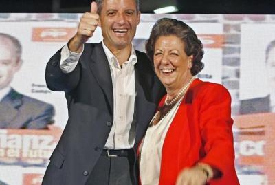 Francisco Camps y Rita Barberá, en un acto de la campaña de 2007 que organizó las tramas Gürtel y Taula.