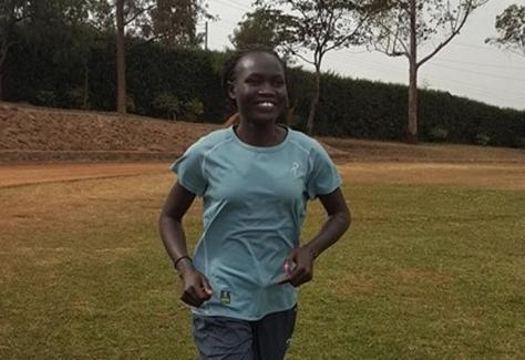 La atleta sursudanesa Rose Lokonyen. Foto: Lam Joar/ Fundación Tegla Loroupe