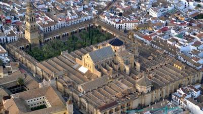 Vista aérea de la mezquita catedral de Córdoba.