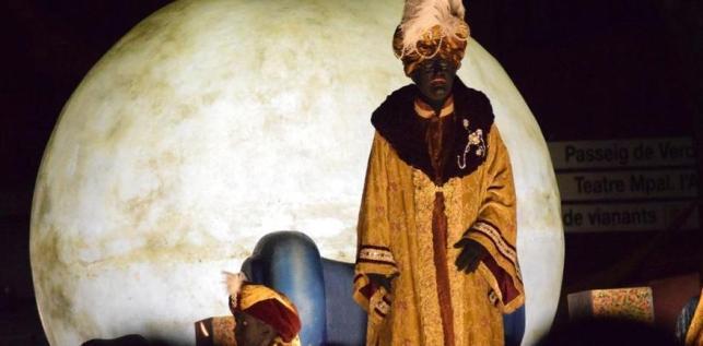 El rey Baltasar en la cabalgata de Iguadala