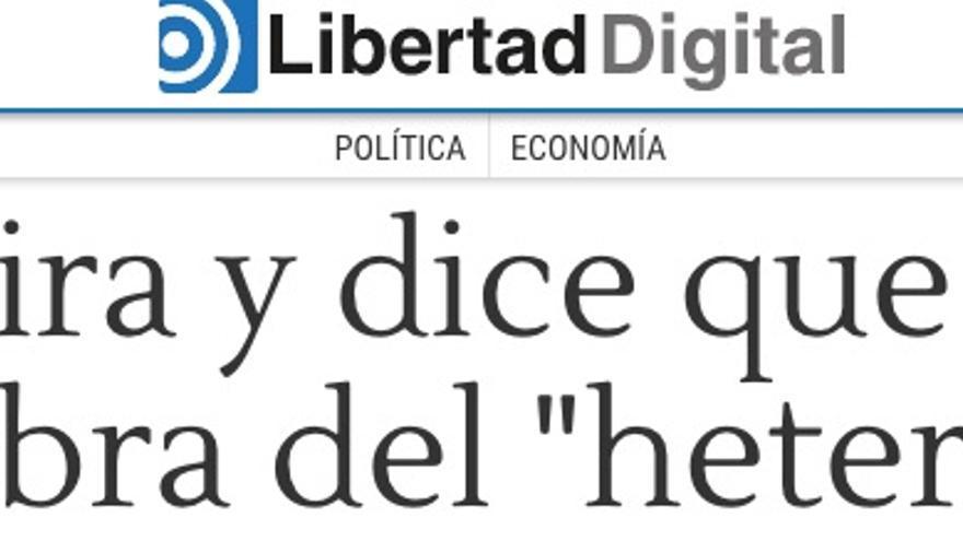 Captura del diario Libertad Digital