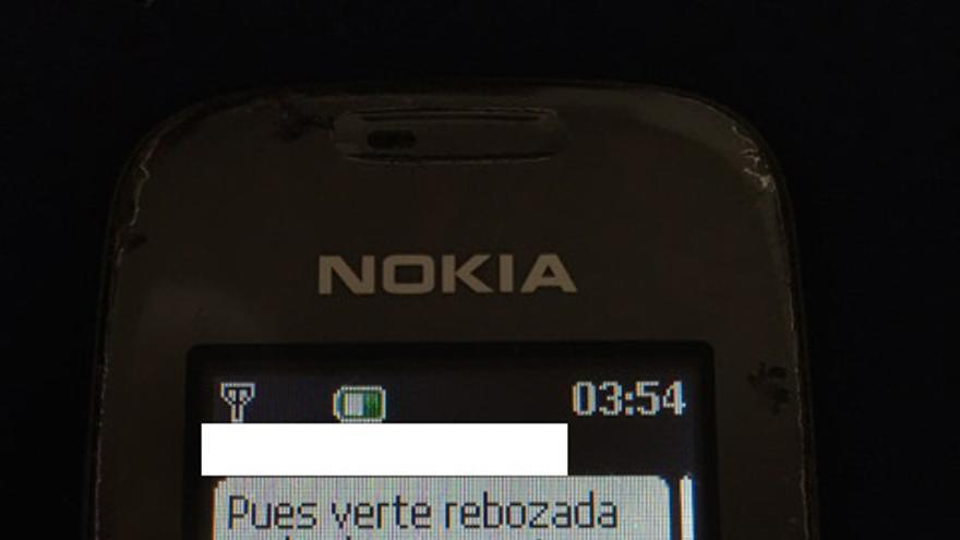 Imagen del SMS: