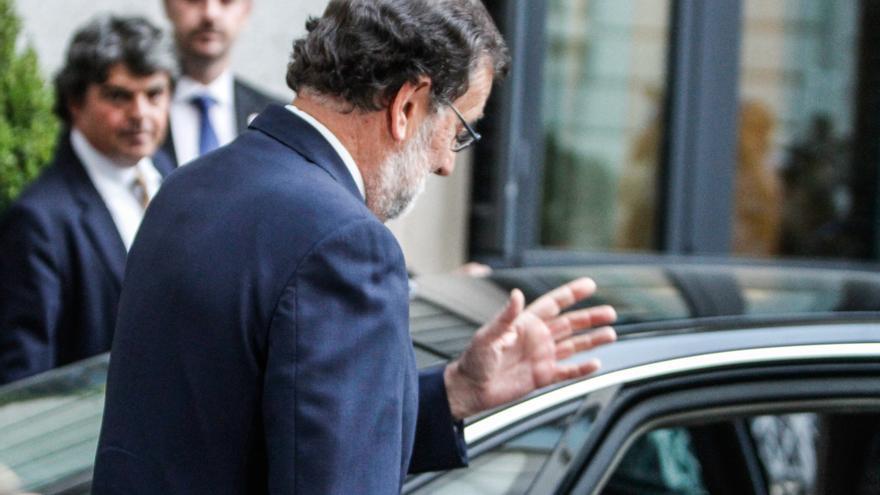 El presidente en funciones, Mariano Rajoy,