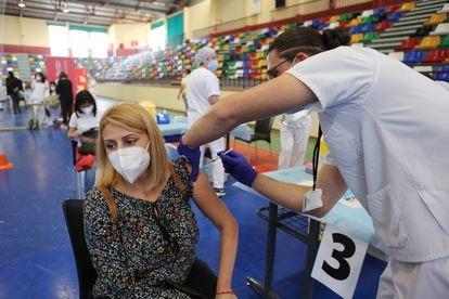 La campaña de vacunación de los profesores de la Comunidad Valenciana.