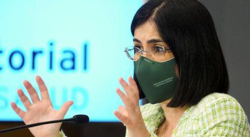 La ministra de Sanidad española, Carolina Darias, el miércoles.