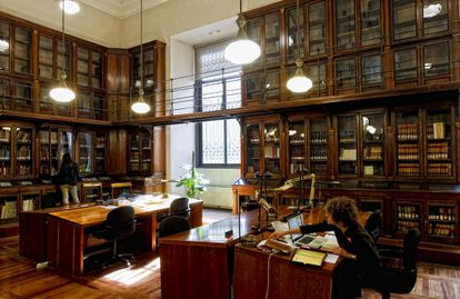 Sala Cervantes de la Biblioteca Nacional de España.