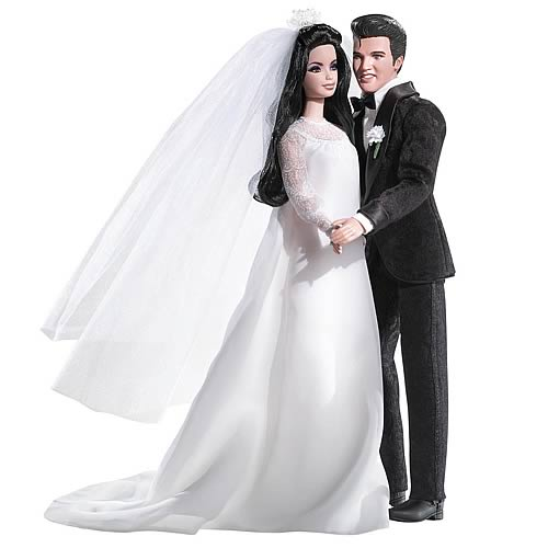 Elvis and Priscilla Presley Barbie Dolls