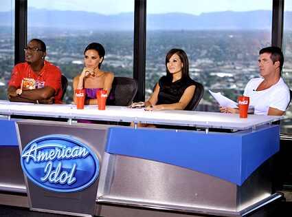 Randy Jackson, Victoria Beckham, Kara DioGaurdi, Simon Cowell, American Idol