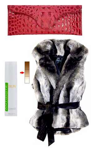 Chic Living Clutch, Antidote Tanner, Imposter Fur Vest