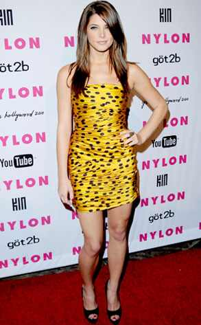 Yabba Dabba Don't  Ashley Greene (at a Nylon bash in L.A.) is probably too young to have ever watched The Flintstones, so we're just going to have to explain to her: Orange and yellow clothes with black spots will always invoke comparisons to the stone-age family, and that's not a good thing, sweetie.